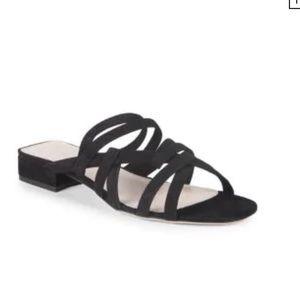 CUSHNIE ET OCHS Liam Suede Strappy Flat Sandals
